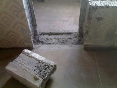 Cutting of openings and arches.Dismantling santehkabiny,walls.Drilling of concrete